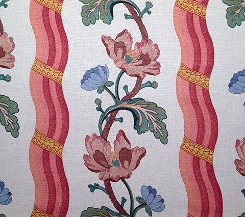 Quadrille Prints: Chaillot - Peche on 100% Glazed Cotton Sateen (Imported from France)