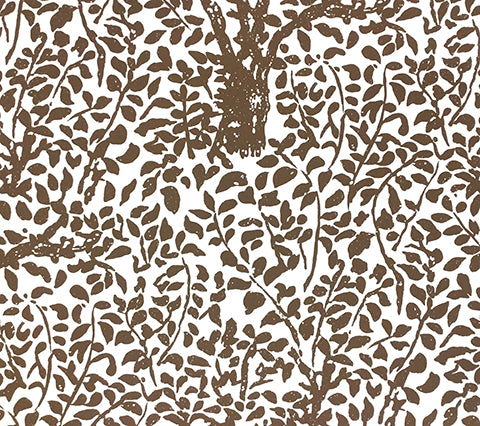 China Seas Wallpaper: Arbre de Matisse - Custom Brown on White Paper