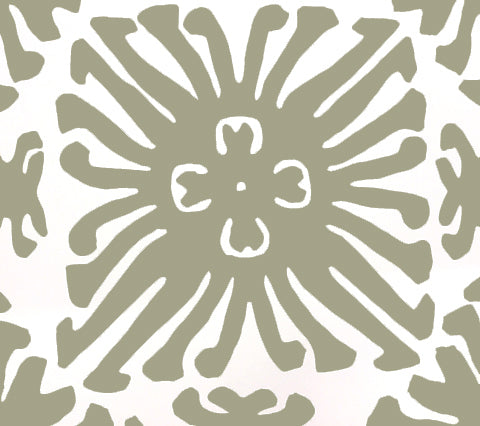 China Seas Wallpaper: Sigourney - Custom Cypress Green on White Paper