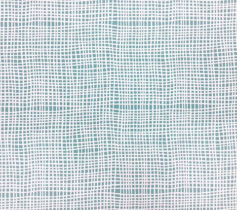 Alan Campbell Wallpaper: Criss Cross - Custom Dark Turquoise on Almost White Paper