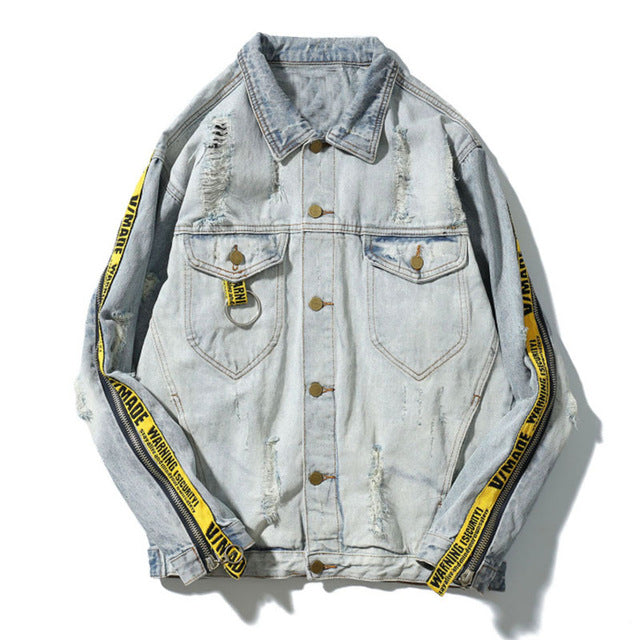 """Warning"" Denim Jacket"