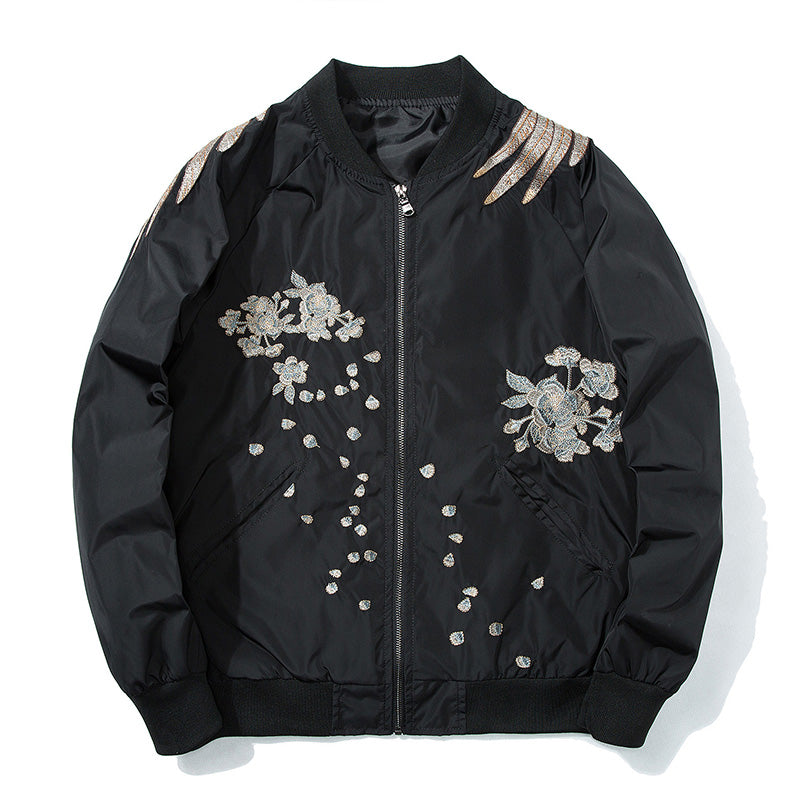 """Phoenix"" Embroidered Bomber Jacket"