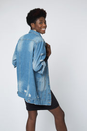 Organic Distressed Denim Jacket