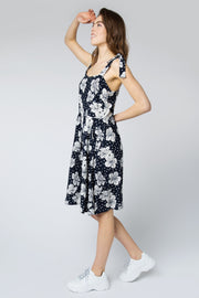 Miriam Hawaiian Flowers Batik Sundress
