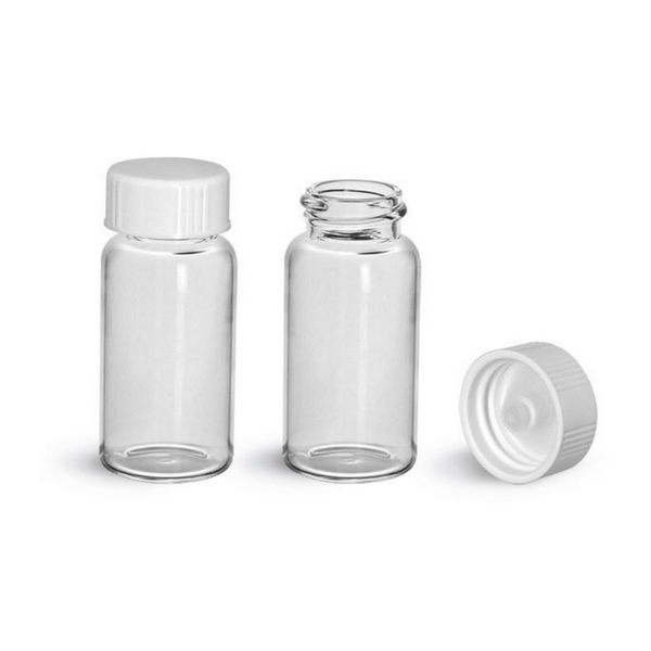 McCartney Bottles, 28ml with White Screw Cap -  Science Lab Equipment | Science Equip Australia