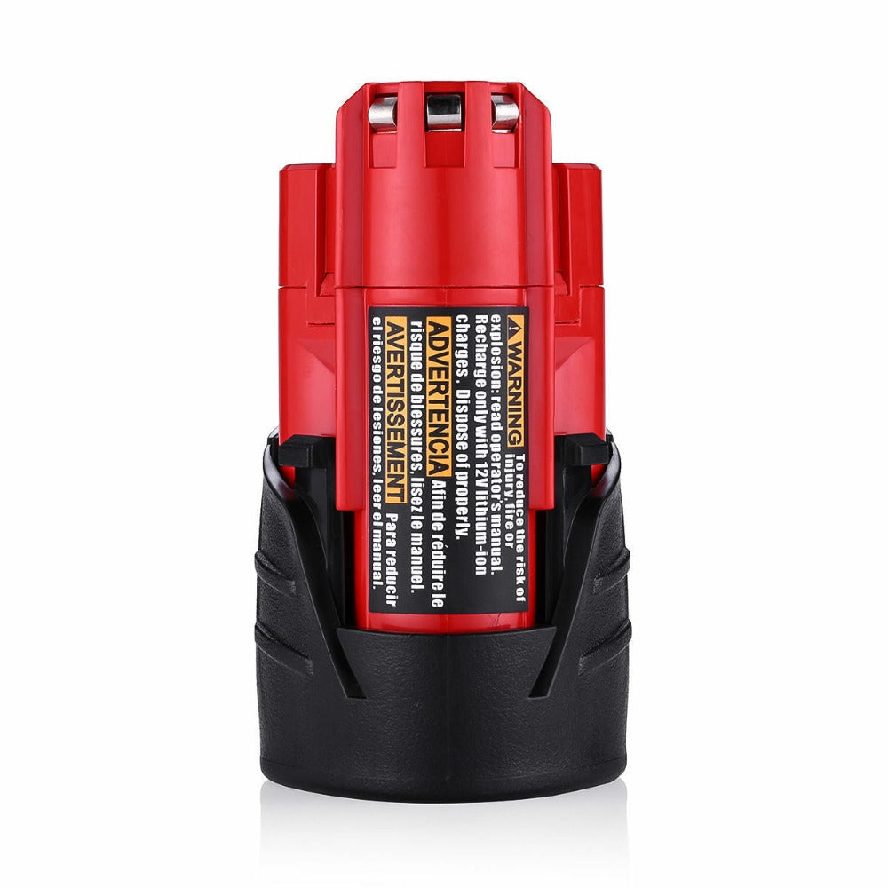 For Milwaukee 12V 2.5Ah Battery Replacement | 48-11-2411 48-11-2420 48-11-2401