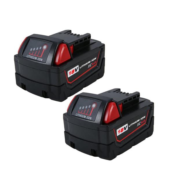 For Milwaukee 18V M18 Battery | 4.0Ah Lithium-Ion Replacement 2-Pack Batteries