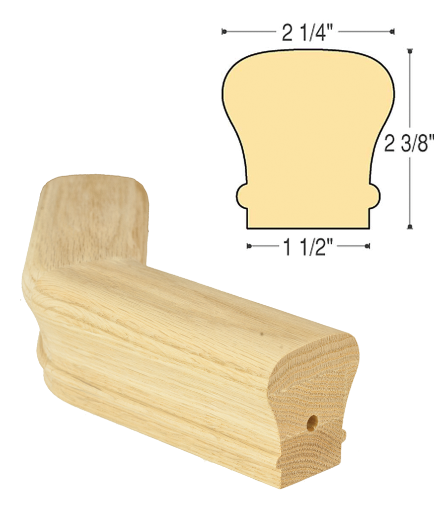 Traditional Level Turn 45 Degree : C-7026 | Stair parts