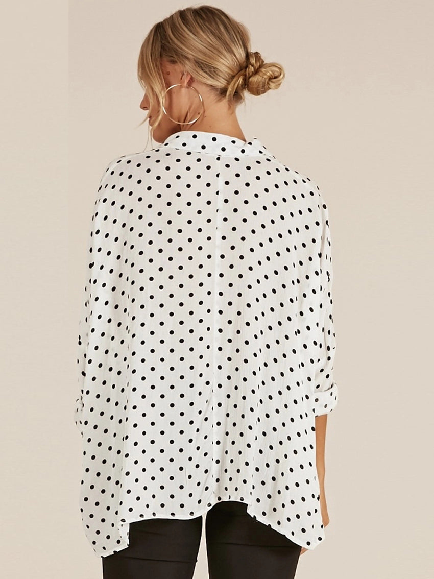 Print Polka Dot Women Blouse