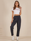 Strip High Waist Versatile Feet Pants