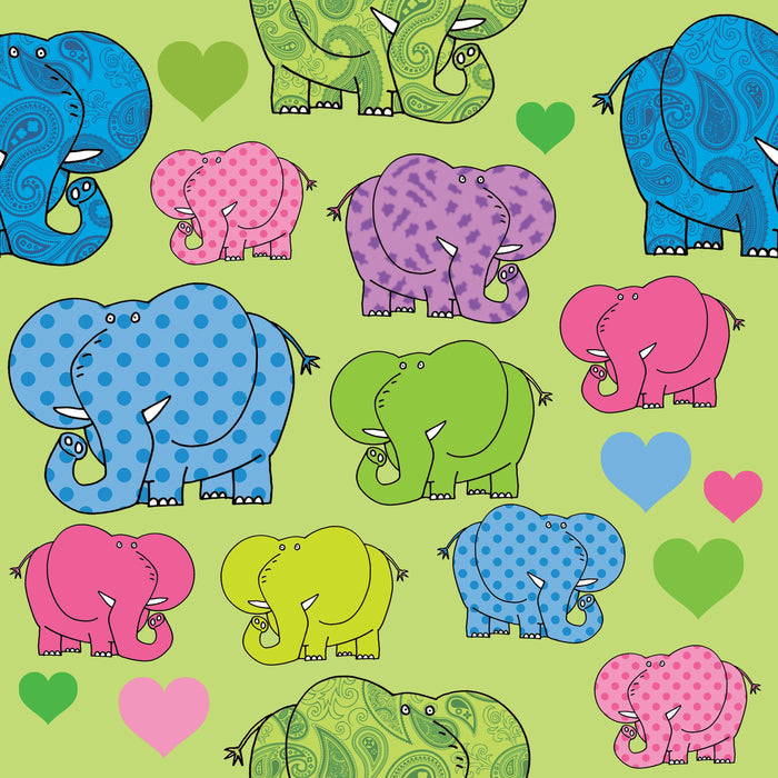 Elephants Full Colour Window Sticker