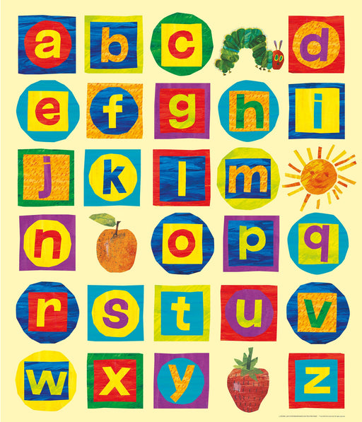 The Very Hungry Caterpillar Alphabet Chart