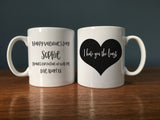 Funny Romantic Gift - 'I Hate You The Least' Personalised Mug - Anti-Valentine's Day Present