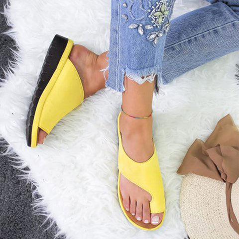 yellow platform open women's sandals