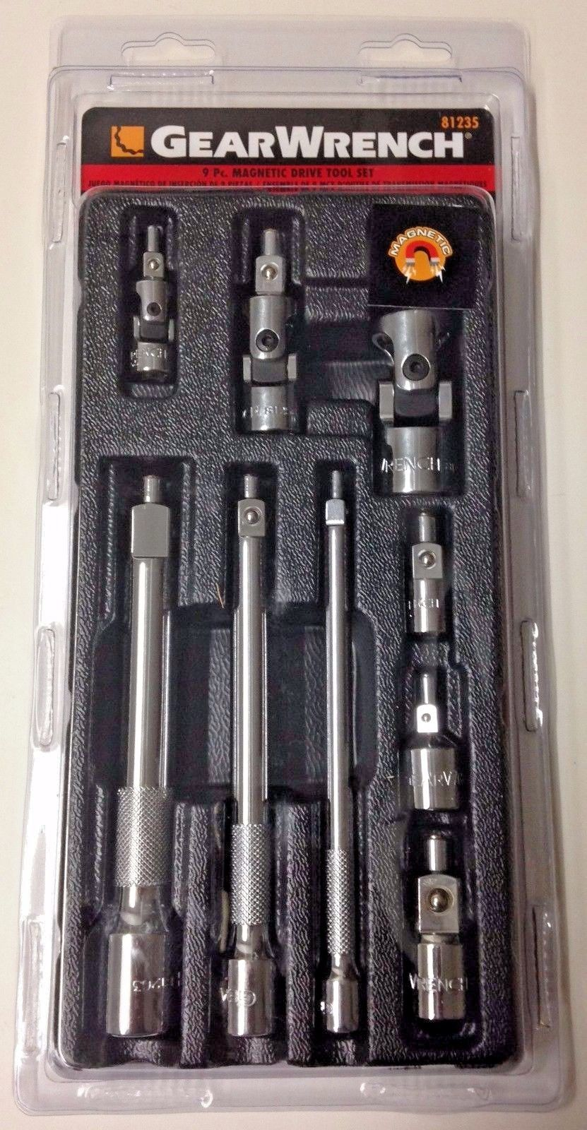 Gearwrench 81235 9 Piece Magnetic Drive Tool Set
