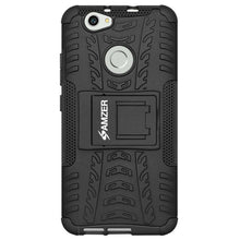 Load image into Gallery viewer, AMZER Shockproof Warrior Hybrid Case for Huawei Nova - Black/Black - fommystore