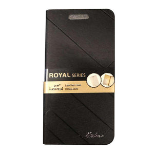 Royal Series Lishen Ultra Slim Leather Flip Case for Xiaomi Mi 4 - Black - fommystore