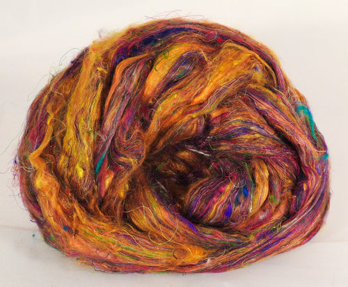 100% Sari Silk Top- Yellow Ochre- 1.5 oz.