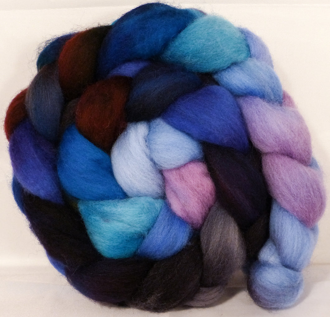 Organic Polwarth Roving (Top) -Stellar's Jay - 4.8 oz.