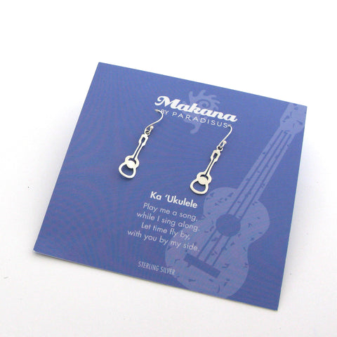 Mini Charm Ukulele Earrings
