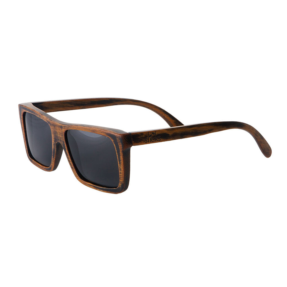 The Vagabond style from Sticks Wooden Sunglasses with smoke lenses
