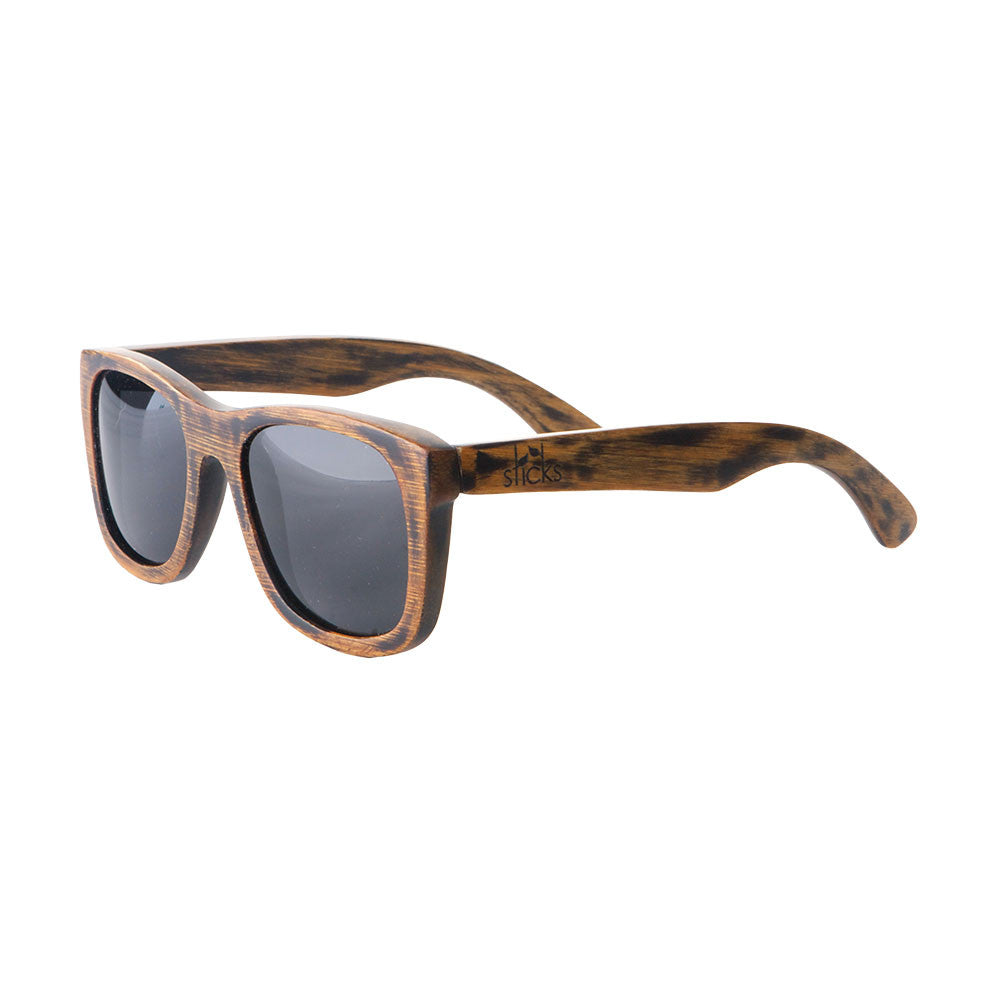 The Nomad style from Sticks Wooden Sunglasses with smoke lenses