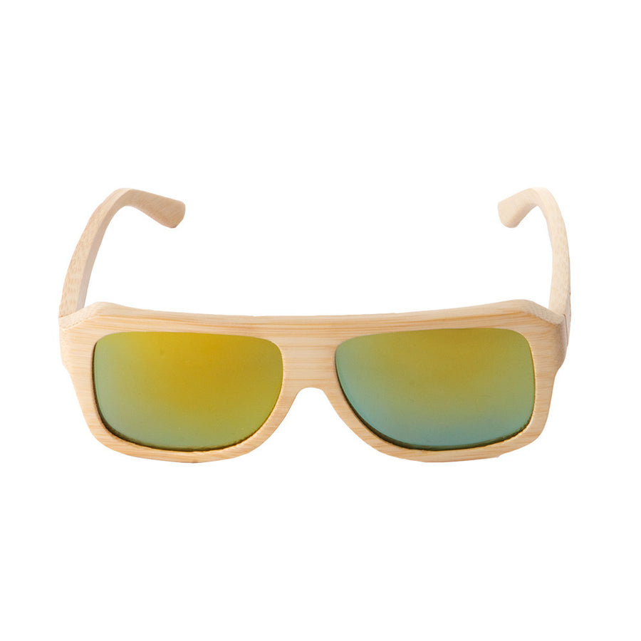 The Traveler style from Sticks Wooden Sunglasses with aqua gold lenses