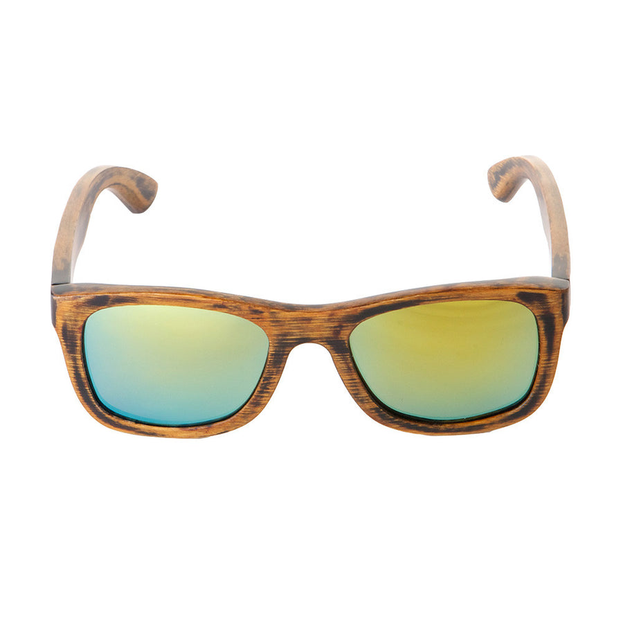 The Nomad style from Sticks Wooden Sunglasses with aqua gold lenses