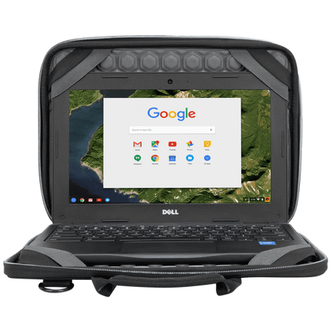 "Plus 11.6"" Chromebook Work-in Case (Black/Grey) - In Use with Chromebook hidden"