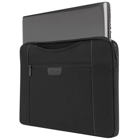 "Slipskin 15.6"" Laptop Sleeve with Hideaway Handles (Black) - with laptop hidden"