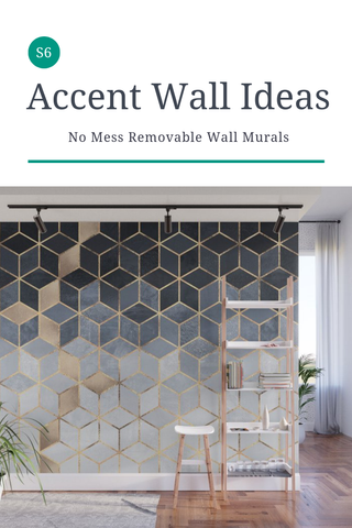 Accent Wall Ideas for Your Home, Office or Dorm Space created by a variety of artists