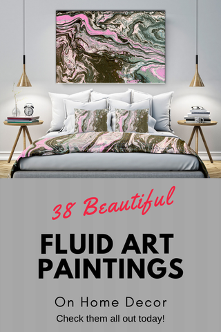 38 Beautiful Abstract Fluid Art Paintings on Home Decor Items