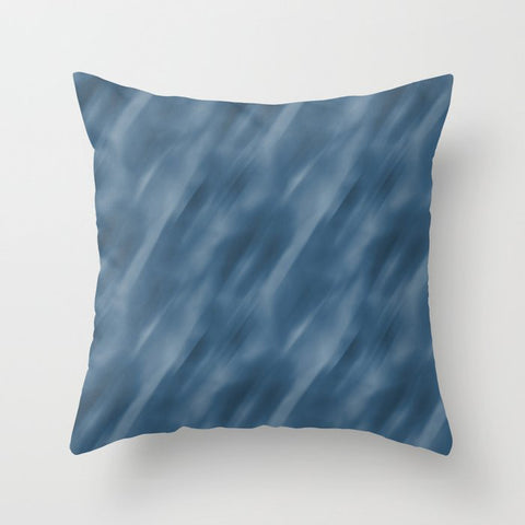 Blue Abstract Blend Motion Blur Pattern Pairs To 2020 Color of the Year Chinese Porcelain PPG1160-6 Throw Pillow