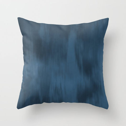 Blue Abstract Fusion Watercolor Blend Pairs To 2020 Color of the Year Chinese Porcelain PPG1160-6 Throw Pillow