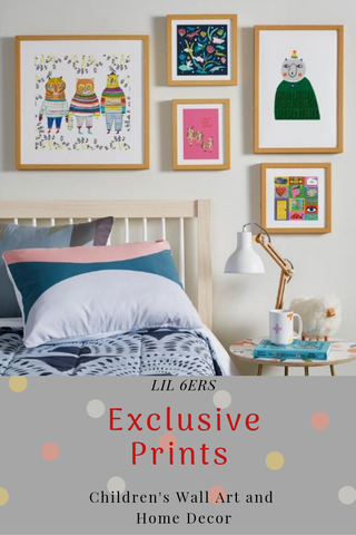 LIL 6ers Exclusive Framed Children's Wall Art Prints on Society 6