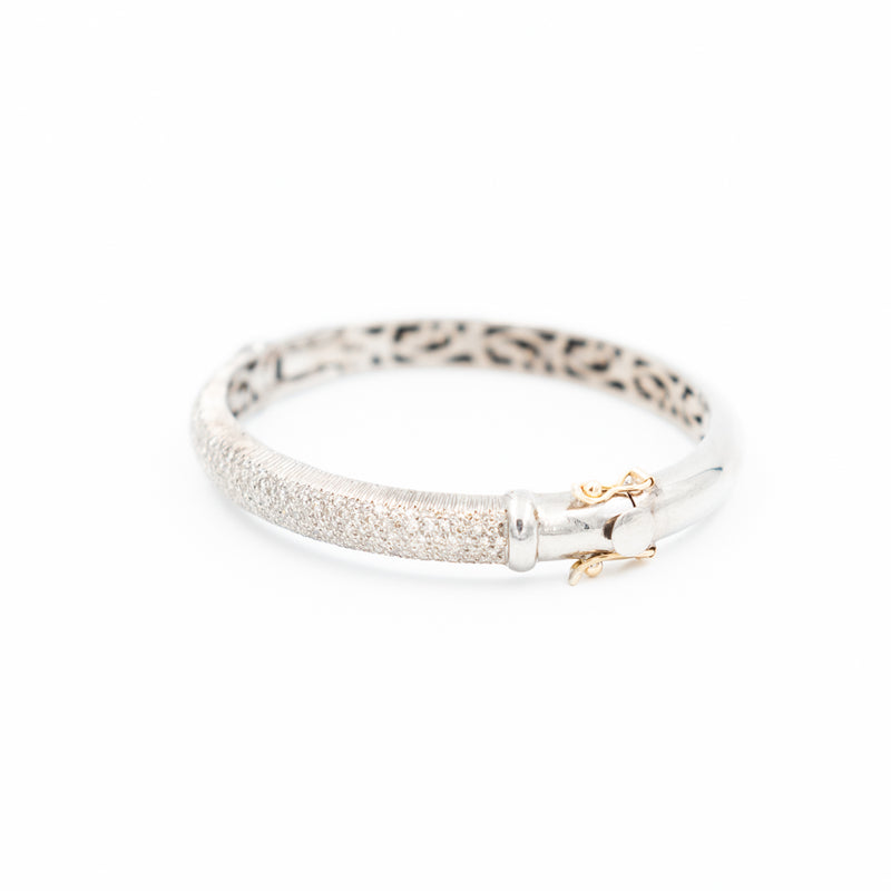 Pave Diamond Bangle Bracelet