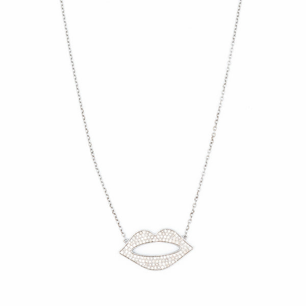 Hot Lips Diamond Pendant Necklace