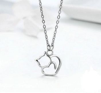 Sterling Silver Cat Pendant - Alex Aurum