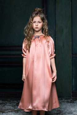 Girls Silk Nightdress - Luxury sleepwear for children - AMIKI Children