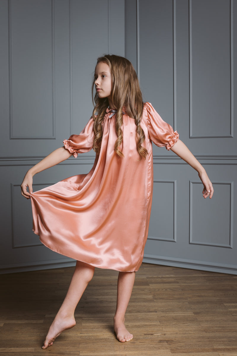 Kids Silk Nightdress - Luxury & Antique nightwear for children - AMIKI Children