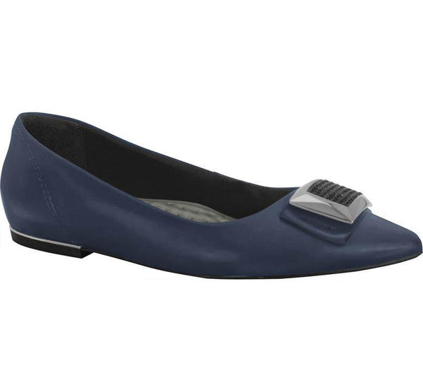 Ramarim 15-84104 Pointy Toe Flat in Indigo