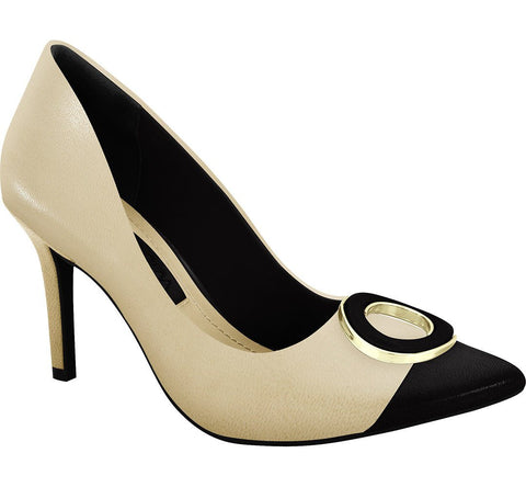 Ramarim 16-23252 Pointy Toe Pump in Almond Napa