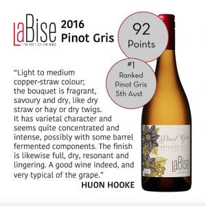 La Bise Ranked Top South Australian Pinot Gris