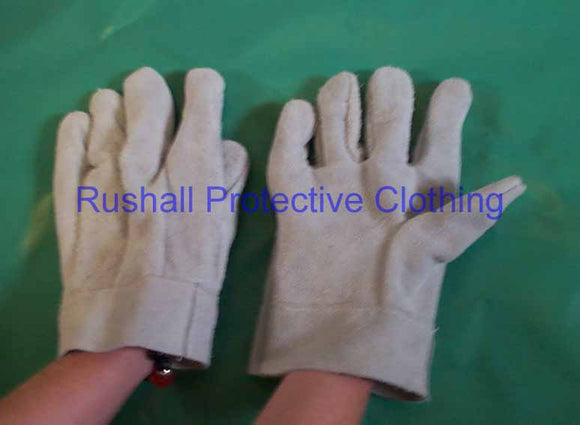 British Double Palm Chrome Leather Gloves