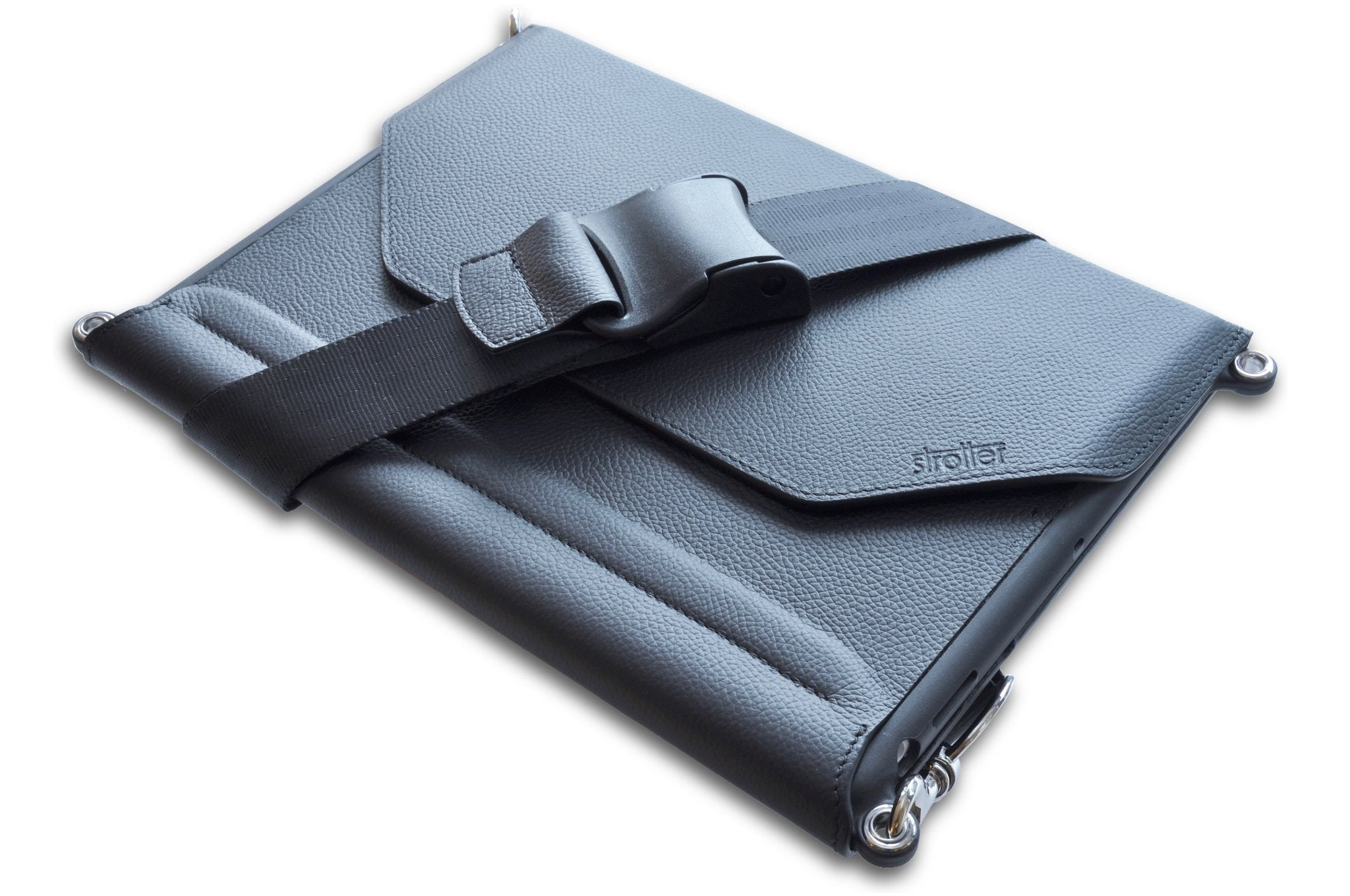 Leather case with strap and Pencil support for iPad Pro 10.5 inch