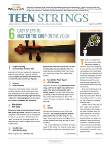 Teen Strings Tip Sheet #7: Master the Chop on the Violin