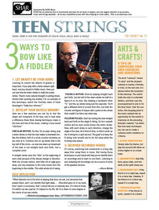 Teen Strings Tip Sheet #11: 3 Ways to Bow Like a Fiddler