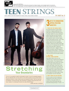 Teen Strings Tip Sheet #15: Stretching Your Boundaries