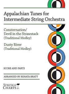 Appalachian Tunes for Intermediate String Orchestra: Consternation/Devil in the Strawstack and Dusty River