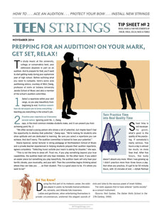 Teen Strings Tip Sheet #2: How to Ace an Audition